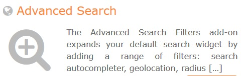GeoDirectory – Advance Search Filters