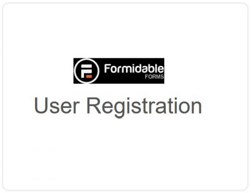 Formidable Forms –  User Registration
