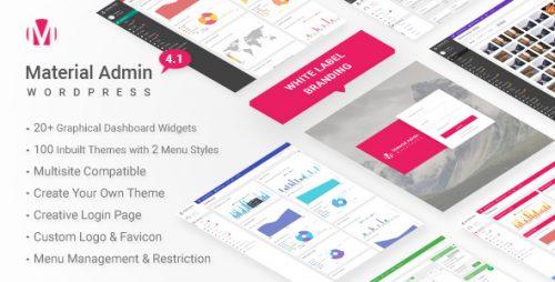 Material – White Label WordPress Admin Theme