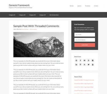 StudioPress – Genesis Sample Theme