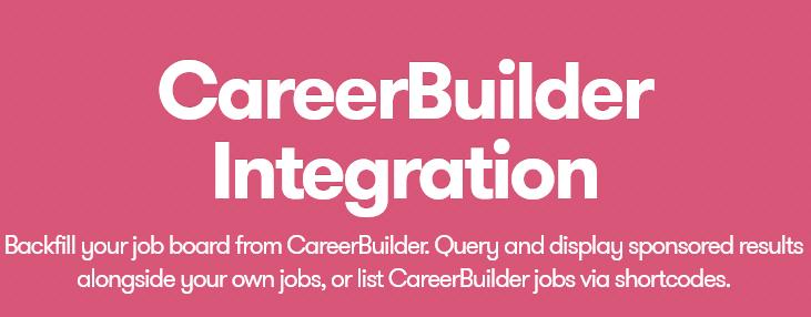 WP Job Manager – Career Builder Integration