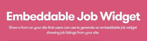 WP Job Manager – Embeddable Job Widget