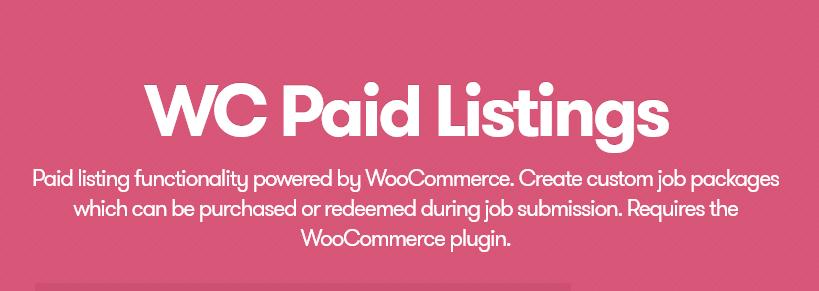 WP Job Manager – WooCommerce Paid Listings
