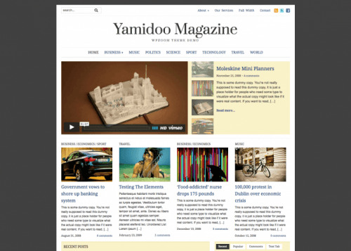 WPZOOM – Yamidoo Magazine