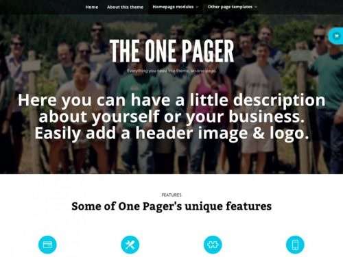 Storefront – The One Pager