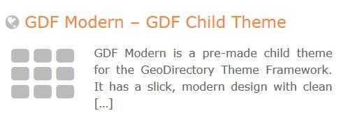 GeoDirectory – GDF Modern