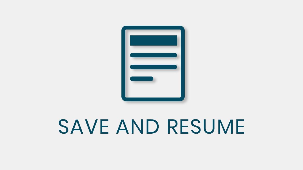 QSM – Save and Resume
