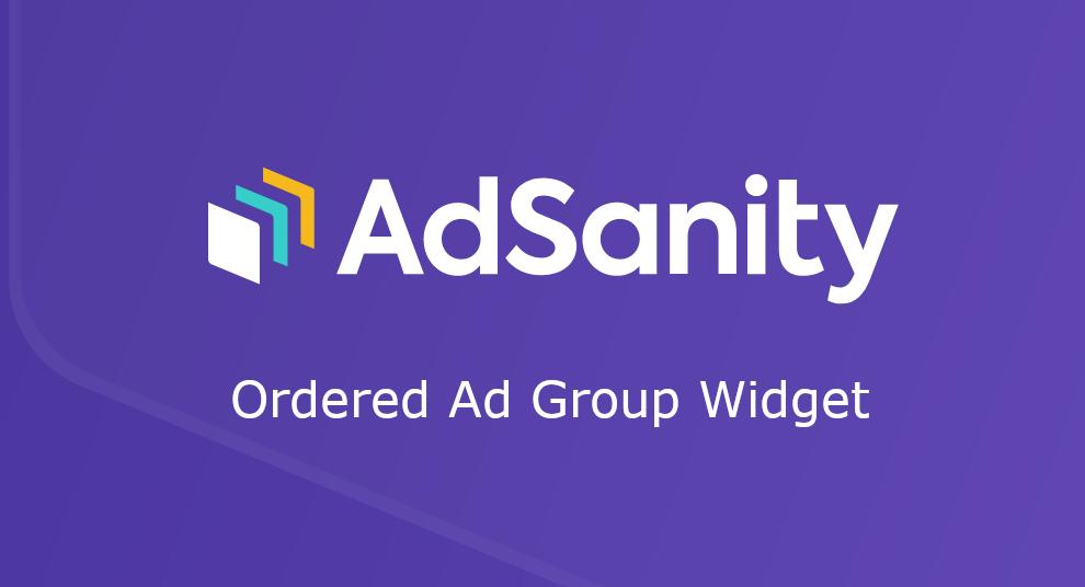AdSanity – Ordered Ad Group Widget