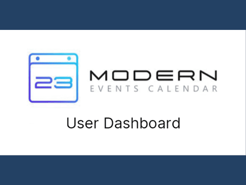 Modern Events Calendar – User Dashboard